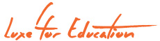 luxe4education a 100% non-profit organization