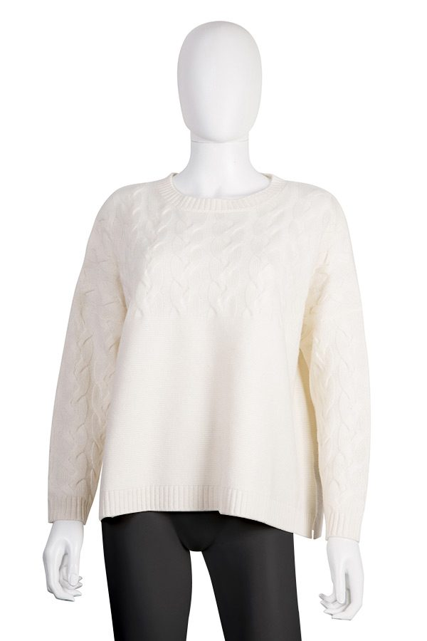 Round-neck Cable-knit